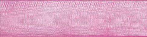 Plain organza Ribbons_Shocking pink